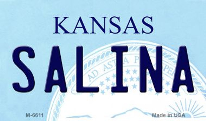 Salina Kansas State License Plate Novelty Wholesale Magnet M-6611