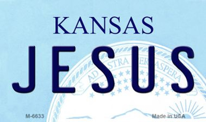 Jesus Kansas State License Plate Novelty Wholesale Magnet M-6633
