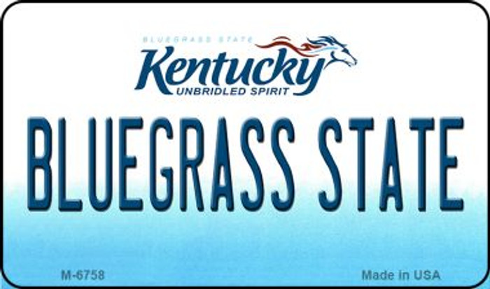 Bluegrass State Kentucky State License Plate Novelty Wholesale Magnet M-6758