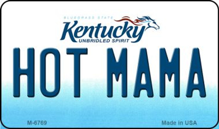 Hot Mama Kentucky State License Plate Novelty Wholesale Magnet M-6769