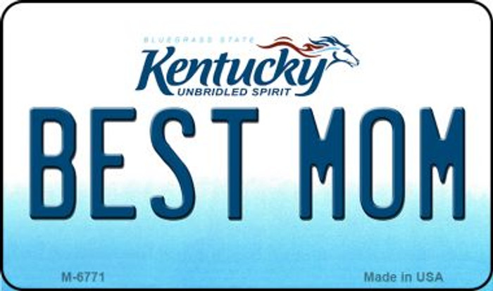 Best Mom Kentucky State License Plate Novelty Wholesale Magnet M-6771