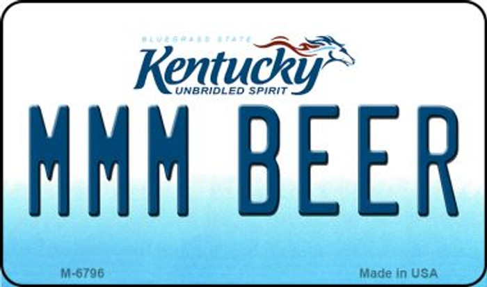 MMM Beer Kentucky State License Plate Novelty Wholesale Magnet M-6796