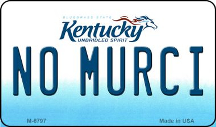No Murci Kentucky State License Plate Novelty Wholesale Magnet M-6797
