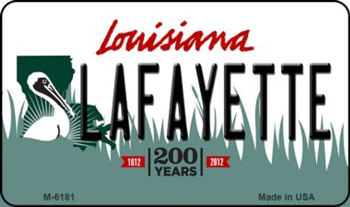 Lafayette Louisiana State License Plate Novelty Wholesale Magnet M-6181