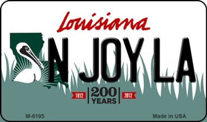 N Joy LA Louisiana State License Plate Novelty Wholesale Magnet M-6195