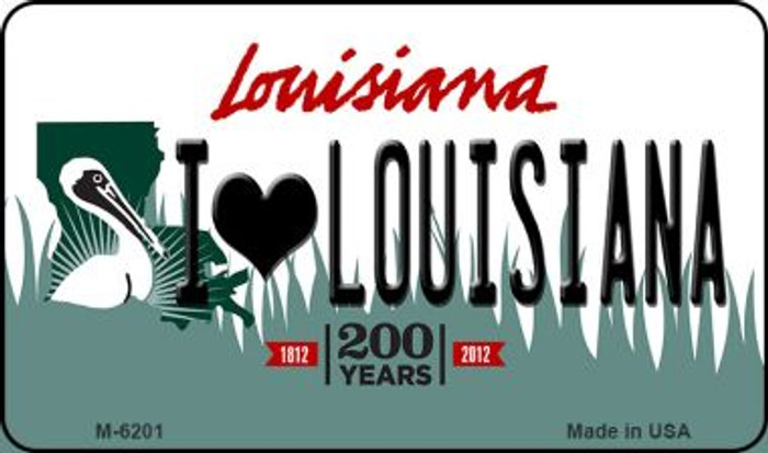 I Love Louisiana Louisiana State License Plate Novelty Wholesale Magnet M-6201