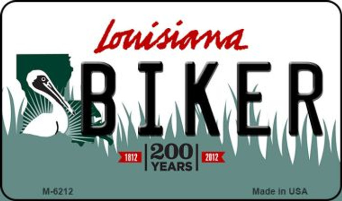 Biker Louisiana State License Plate Novelty Wholesale Magnet M-6212