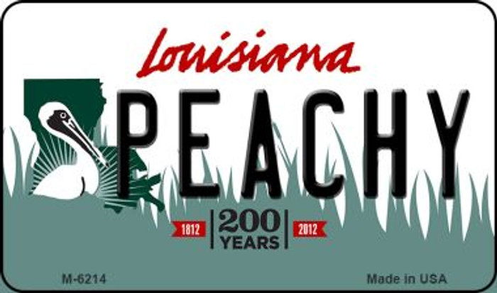 Peachy Louisiana State License Plate Novelty Wholesale Magnet M-6214