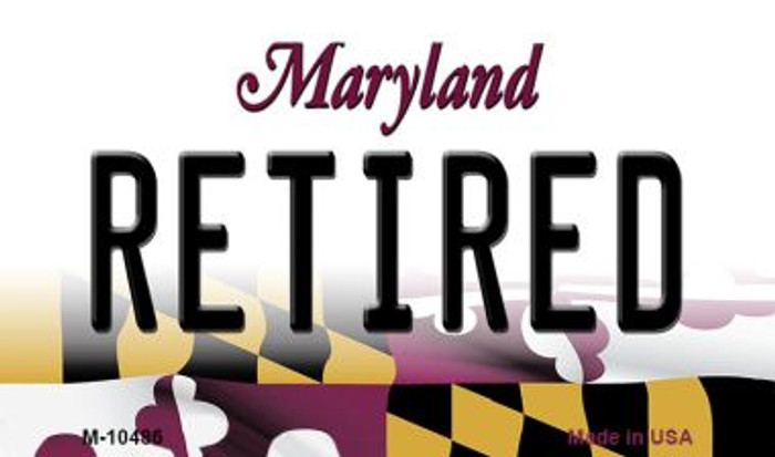 Retired Maryland State License Plate Wholesale Magnet
