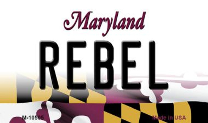 Rebel Maryland State License Plate Wholesale Magnet