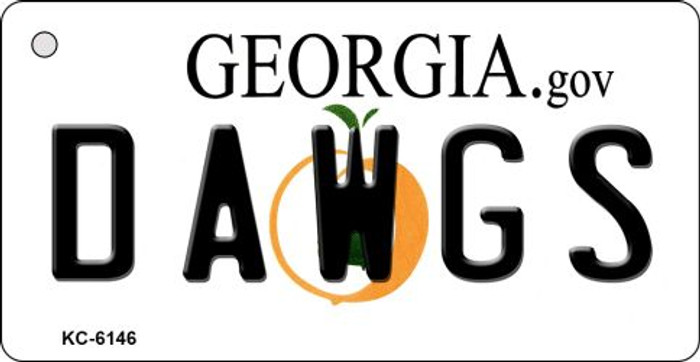Dawgs Georgia State License Plate Novelty Wholesale Key Chain KC-6146