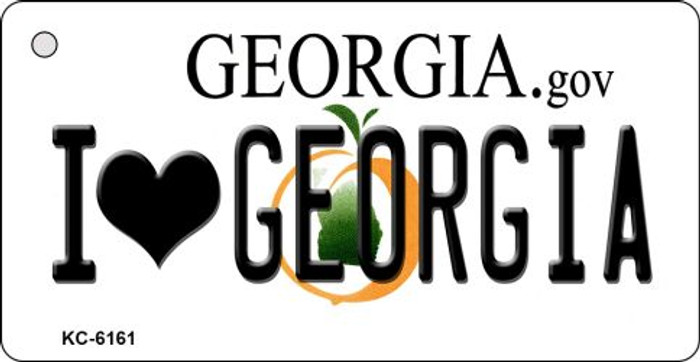 I Love Georgia State License Plate Novelty Wholesale Key Chain KC-6161