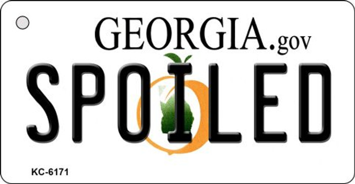 Spoiled Georgia State License Plate Novelty Wholesale Key Chain KC-6171