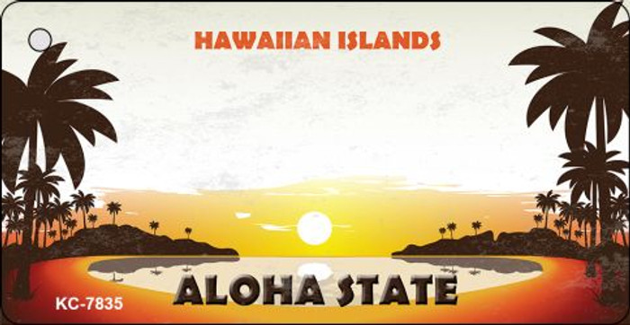 Blank Hawaiian Islands Novelty Wholesale Metal Key Chain KC-7835