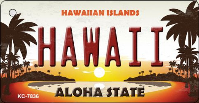 Hawaiian Islands Novelty Wholesale Metal Key Chain KC-7836