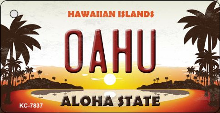 Oahu Hawaiian Islands Novelty Wholesale Metal Key Chain KC-7837