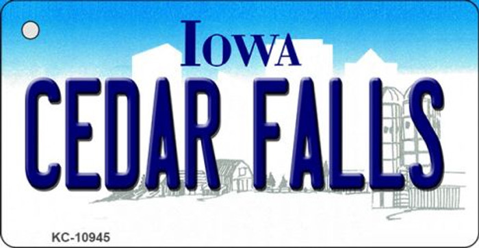 Cedar Falls Iowa State License Plate Novelty Wholesale Key Chain KC-10945