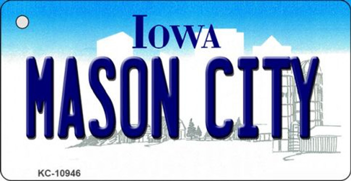 Mason City Iowa State License Plate Novelty Wholesale Key Chain KC-10946