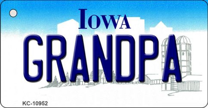 Grandpa Iowa State License Plate Novelty Wholesale Key Chain KC-10952