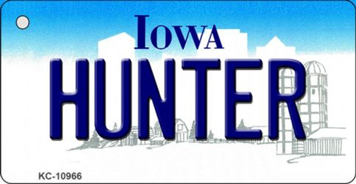 Hunter Iowa State License Plate Novelty Wholesale Key Chain KC-10966