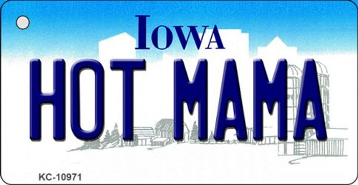Hot Mama Iowa State License Plate Novelty Wholesale Key Chain KC-10971