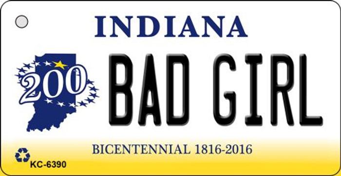 Bad Girl Indiana State License Plate Novelty Wholesale Key Chain KC-6390
