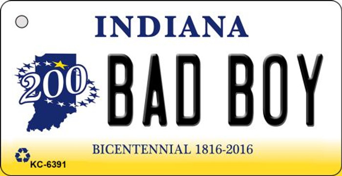 Bad Boy Indiana State License Plate Novelty Wholesale Key Chain KC-6391