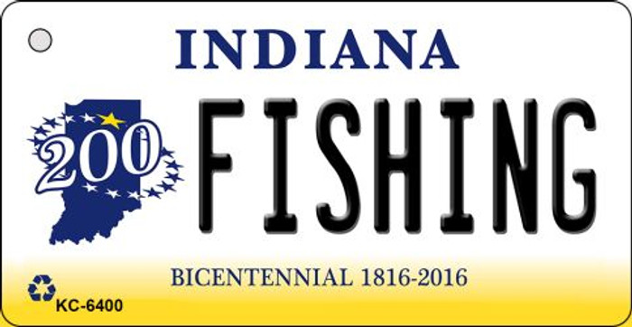 Fishing Indiana State License Plate Novelty Wholesale Key Chain KC-6400