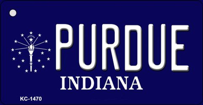 Purdue Indiana State License Plate Novelty Wholesale Key Chain KC-1470