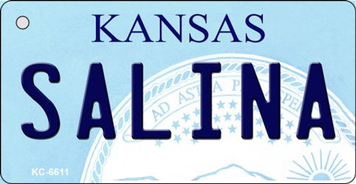 Salina Kansas State License Plate Novelty Wholesale Key Chain KC-6611