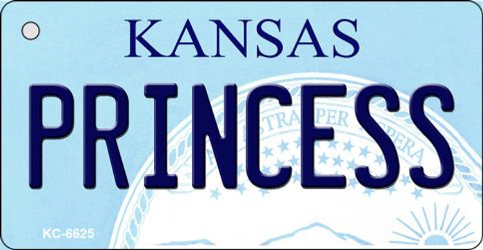 Princess Kansas State License Plate Novelty Wholesale Key Chain KC-6625