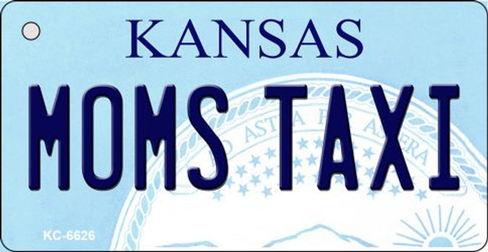 Moms Taxi Kansas State License Plate Novelty Wholesale Key Chain KC-6626