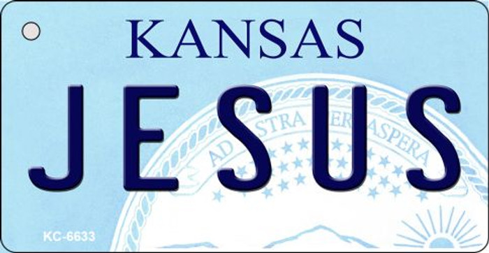 Jesus Kansas State License Plate Novelty Wholesale Key Chain KC-6633