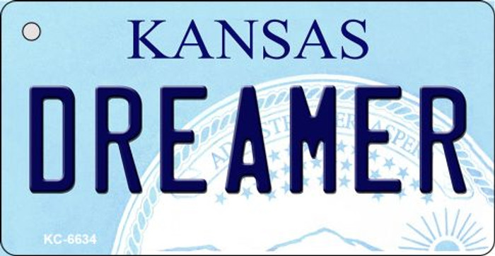 Dreamer Kansas State License Plate Novelty Wholesale Key Chain KC-6634
