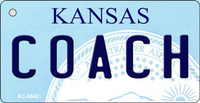Coach Kansas State License Plate Novelty Wholesale Key Chain KC-6642