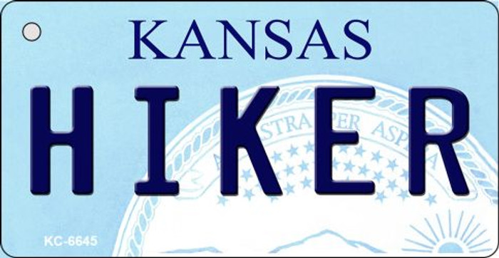Hiker Kansas State License Plate Novelty Wholesale Key Chain KC-6645