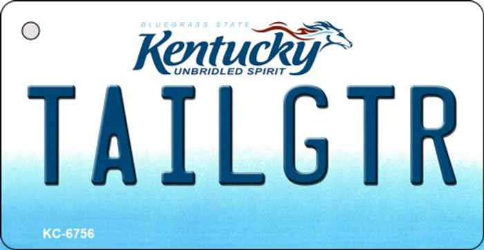 Tailgtr Kentucky State License Plate Novelty Wholesale Key Chain KC-6756