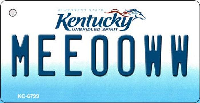 Meeooww Kentucky State License Plate Novelty Wholesale Key Chain KC-6799