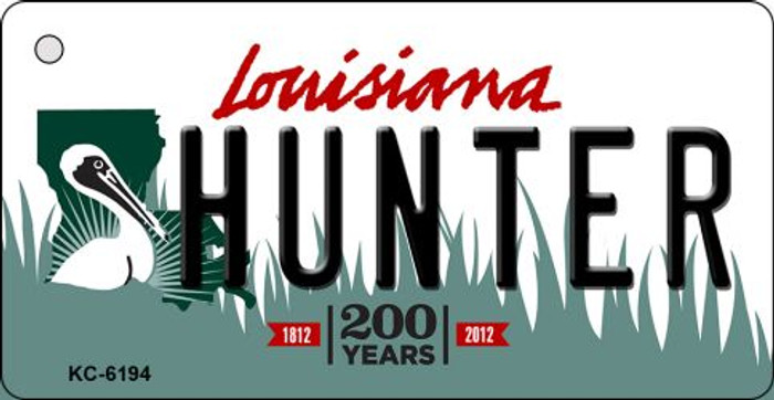 Hunter Louisiana State License Plate Novelty Wholesale Key Chain KC-6194