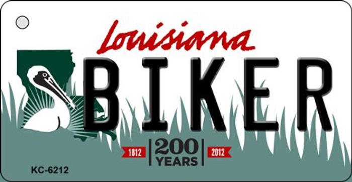 Biker Louisiana State License Plate Novelty Wholesale Key Chain KC-6212