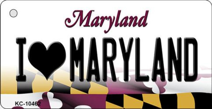 I Love Maryland State License Plate Wholesale Key Chain KC-10462