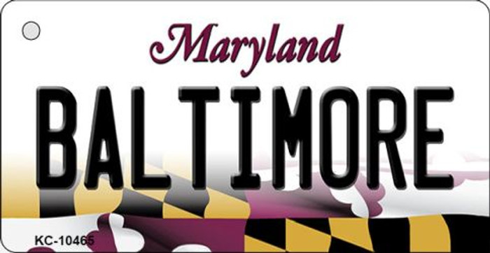 Baltimore Maryland State License Plate Wholesale Key Chain KC-10465