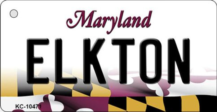 Elkton Maryland State License Plate Wholesale Key Chain KC-10471