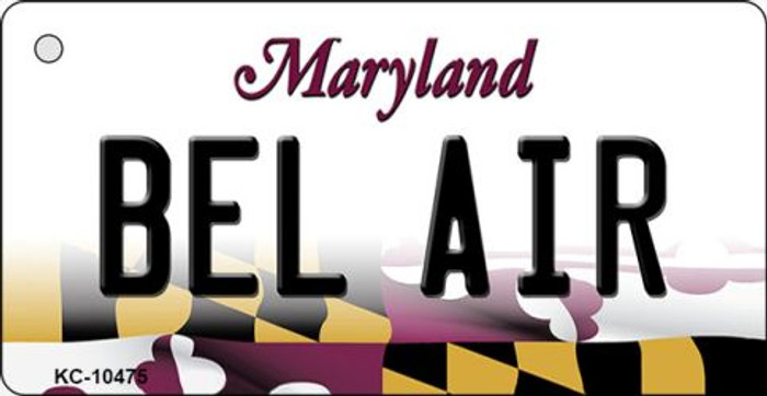 Bel Air Maryland State License Plate Wholesale Key Chain KC-10475
