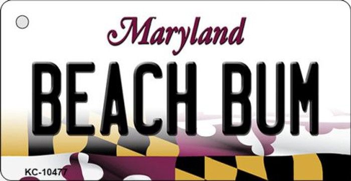 Beach Bum Maryland State License Plate Wholesale Key Chain KC-10477