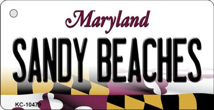 Sandy Beaches Maryland State License Plate Wholesale Key Chain KC-10479