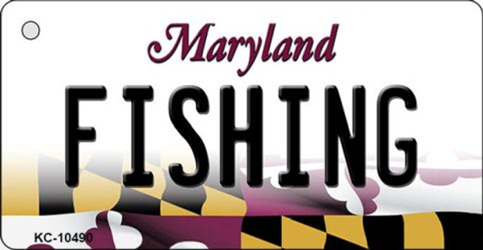 Fishing Maryland State License Plate Wholesale Key Chain KC-10490