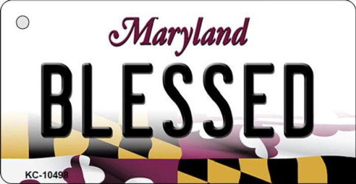 Blessed Maryland State License Plate Wholesale Key Chain KC-10498