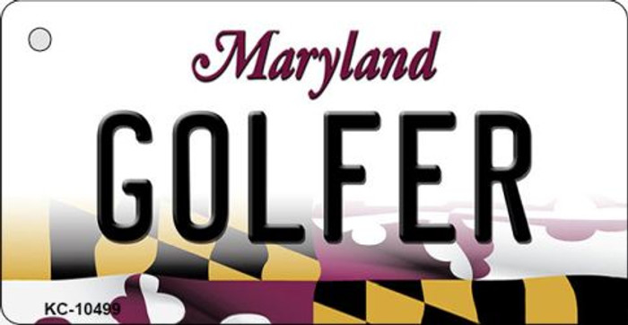 Golfer Maryland State License Plate Wholesale Key Chain KC-10499