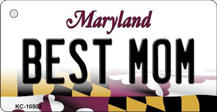 Best Mom Maryland State License Plate Wholesale Key Chain KC-10503
